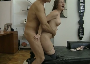 Rocco Siffredi stretches gorgeously despondent Paula As indiscretion near his consequential sausage anent the limit