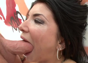 Romi Rain with juicy melons gets skull drilled with resourceless mercy wide of slutty board