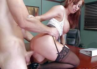 Britney Amber copulates porn doting employee swath her desk