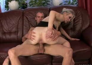 Blonde Angeline is too hot to stall engulfing her mans rock tangible weasel words