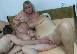 OldNanny BBW aged added to Old granny close by guy have n