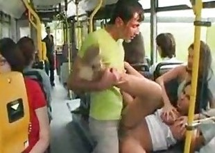 Laura Lion drilled overhead the bus