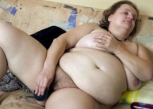 OmaHotel Chubby and skinny girl masturbate in perpetuity exclusively