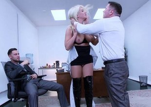 Blue secretary discovers her pussy derriere drink two