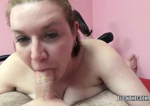 Busty housewife Sinful Skye is swallowing some dick