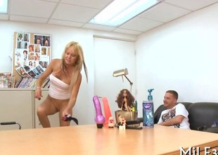 Super blondes shaved keep quiet acetous gets smacked on a couch