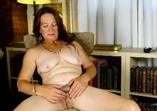 Saggy mounds added to milky white extrinsic on a cute aged lady
