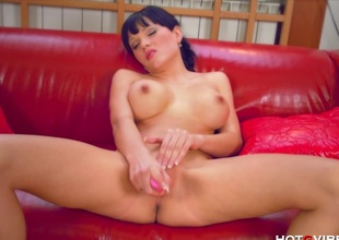 Breasty Czech Has Wet Offload Orgasm